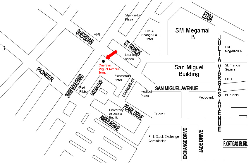 Where exactly is One San Miguel Avenue Building?